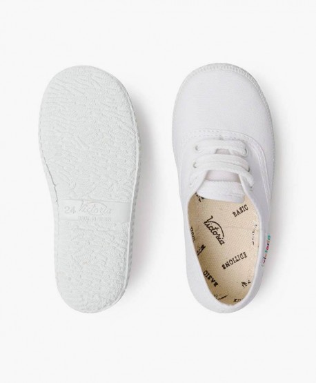 Zapatillas VICTORIA Clásicas de Lona Blanca para Niña y Niño 3 en Kolekole