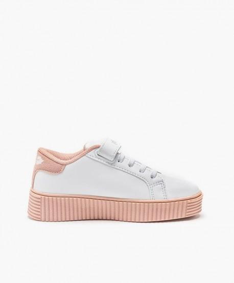 Sneakers LELLI KELLY Plataforma Blanco Rosa Niña 3 en Kolekole