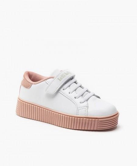 Lelli Kelly Sneakers Plataforma Blanco Rosa Niña en Kolekole
