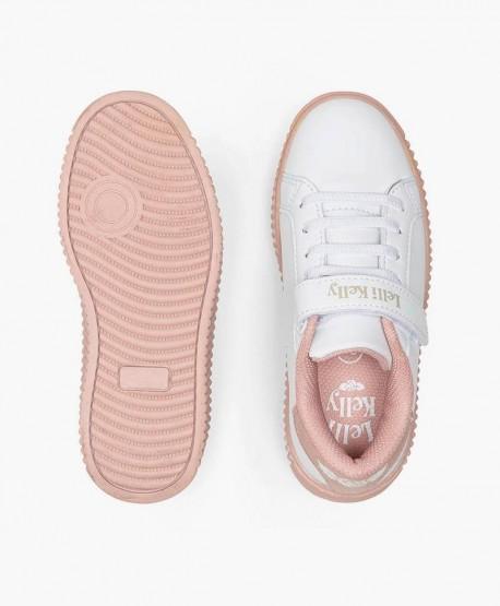 Lelli Kelly Sneakers Plataforma Blanco Rosa Chica en Kolekole