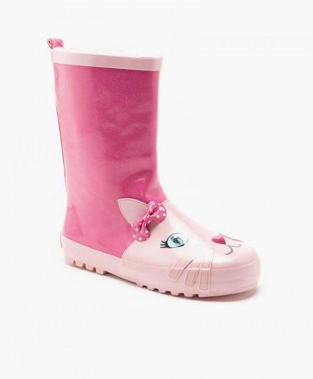 Lelli Kelly Botas Agua Gato Rosa Niña