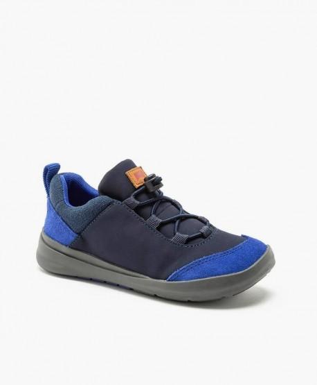 Camper Sneaker Azul Piel Ante en Kolekole