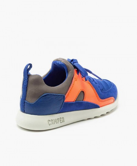 Sneakers CAMPER Azul Naranja Niña Niño 2 en Kolekole