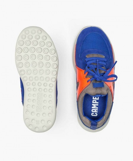 Sneakers CAMPER Azul Naranja Niña y Niño