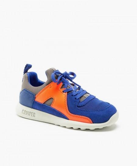 Camper Sneaker Azul Naranja Jóvenes en Kolekole