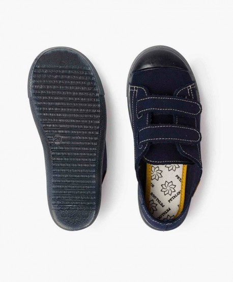 Zapatillas Antimosquitos PETALOUS Azul Marino Olor Limón para Niños en Kolekole