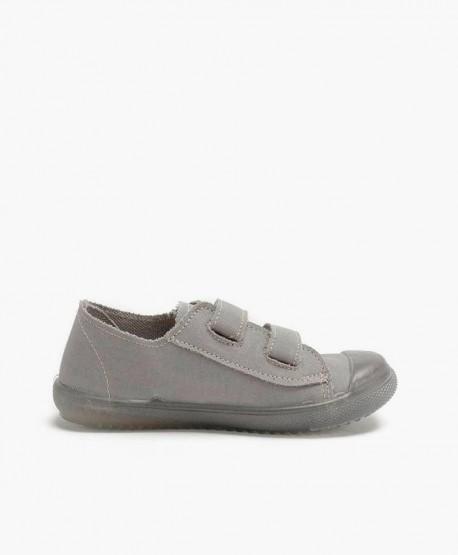 Zapatillas PETALOUS Gris Velcro Olor Limón Niña y Niño 3 en Kolekole