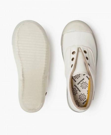 Zapatillas PETALOUS Blancas Olor Limón Niña y Niño