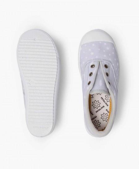 Zapatillas PETALOUS Gris con Estrellas Niña y Niño