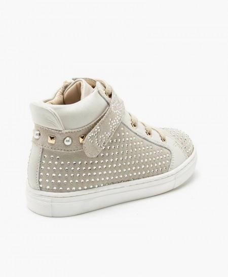 Botines Sneakers TWINSET de Piel color Hueso para Niña