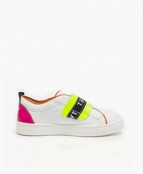 Zapatillas TWIN-SET blancas con Logo en Piel para Niña 3 en Kolekole