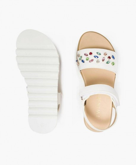 Sandalias TWIN-SET Blancas. Zapatos para Niña 3 en Kolekole