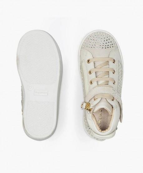 Botines Sneakers TWINSET de Piel color Hueso para Chica y Mujer 3 en Kolekole