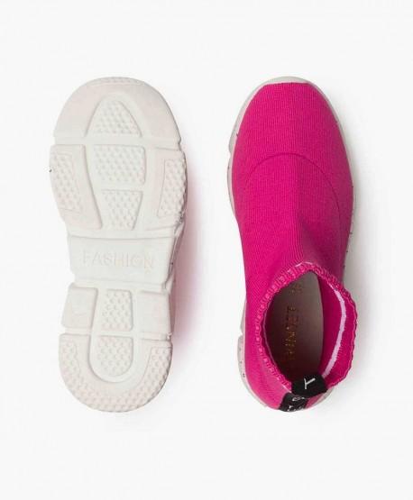 Zapatillas TWIN-SET Tejido Elástico Rosa. Zapatos para Niña 3 en Kolekole
