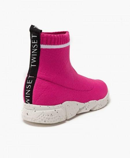 Zapatillas TWINSET con Tejido Elástico Rosa para Niña