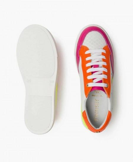 Zapatillas TWINSET Blanca Multicolor de Piel para Chica y Mujer