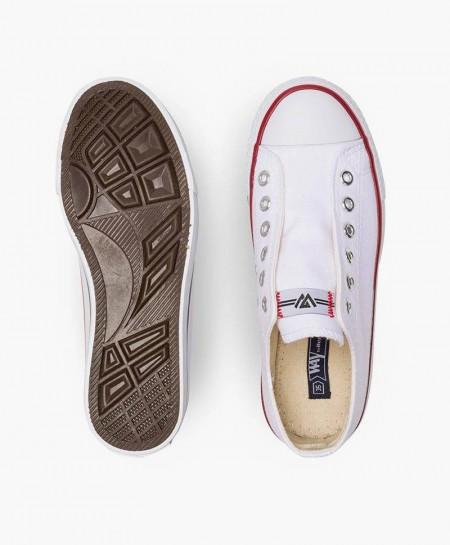 Zapatillas BEPPI Blancas Lona Chica y Chico