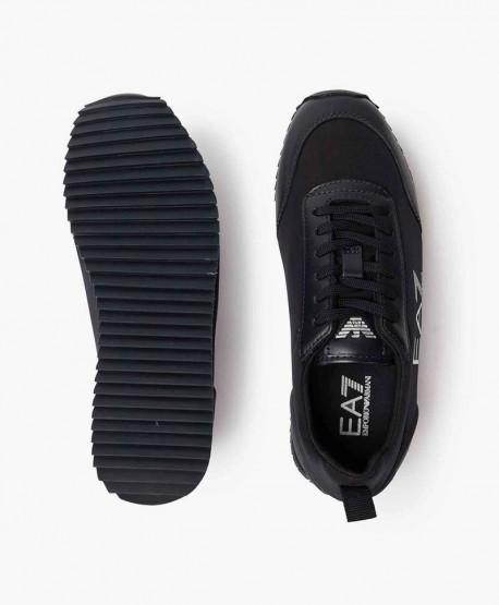 Emporio Armani EA7 Sneaker Negro Piel Jóvenes en Kolekole