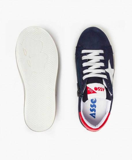Sneakers ASSO Azul Marino con Estrella Niña y Niño 0 en Kolekole