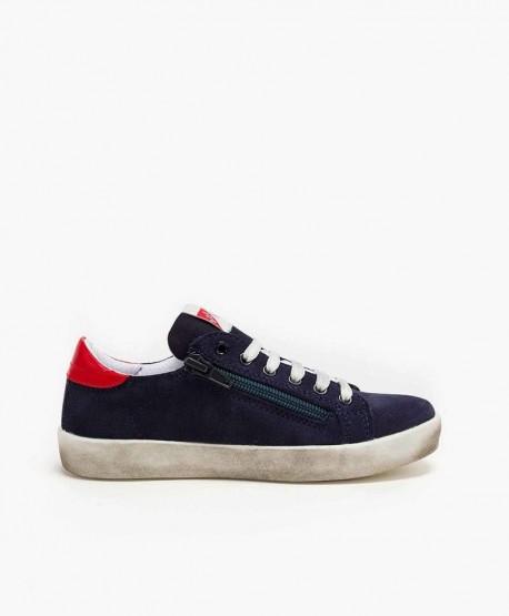 Sneakers ASSO Azul Marino con Estrella Niña y Niño 3 en Kolekole