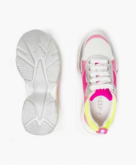 Zapatillas ASSO Plata y Rosa para Niña