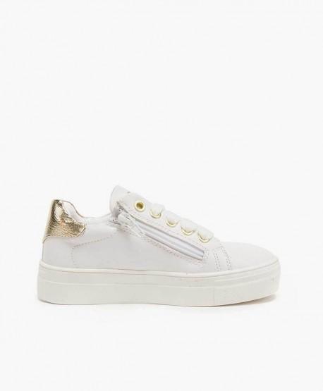 Sneakers ASSO Blancos con Plataforma y Corazón para Chica y Mujer 2 en Kolekole