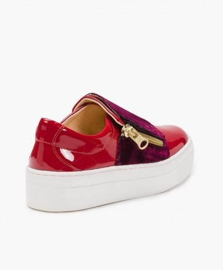 Zapatos Charol ELI Rojos Deportivos de Piel para Chica y Mujer 0 en Kolekole
