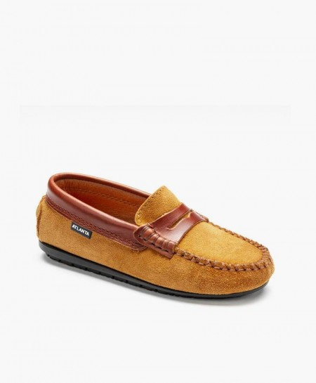 Zapatos Mocasines ATLANTA MOCASSIN Marrón Piel Ante Chica y Chico