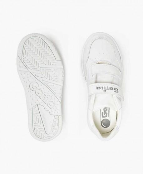 Zapatilla Blanca de Piel con Velcro en Kolekole