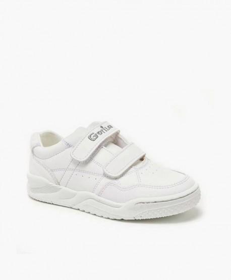Zapatillas Colegiales GORILA Blancas Piel Niña Niño 0 en Kolekole