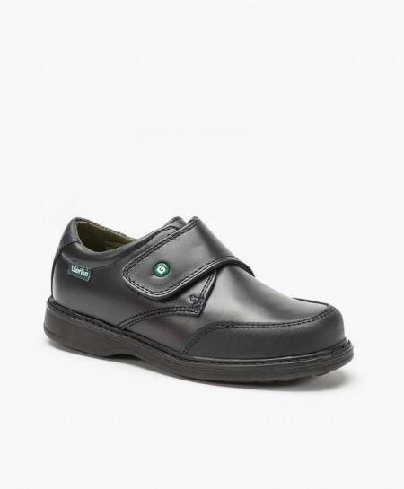 Zapatos Colegiales GORILA Azul Marino de Piel para Chico