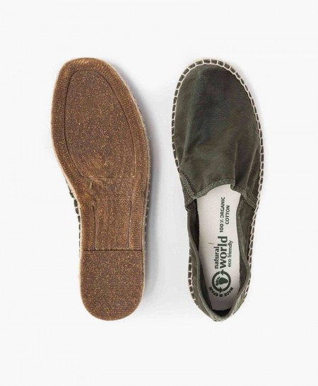 Alpargatas Eco NATURAL WORLD Kaki Chico y Hombre