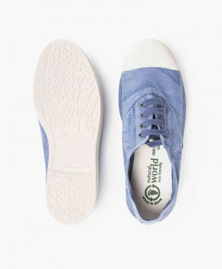 Zapatillas NATURAL WORLD de Lona Azul Celeste para Chicos