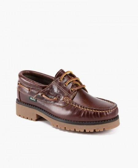 Zapato Naútico Marrón Piel