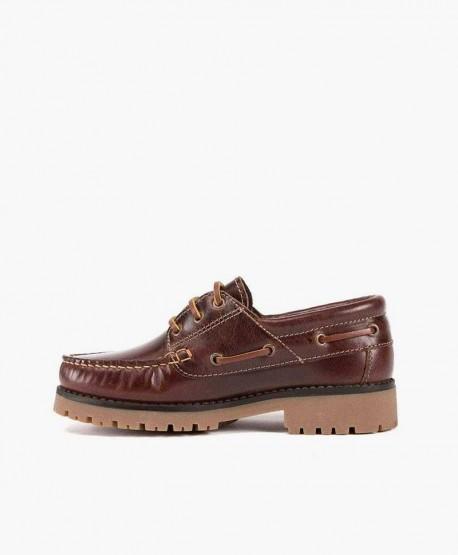 Zapatos Náuticos GORILA Marrón Piel Niña Niño 3 en Kolekole