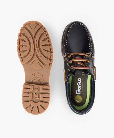 Zapatos Náuticos GORILA Azul Marino para Niños 3 en Kolekole