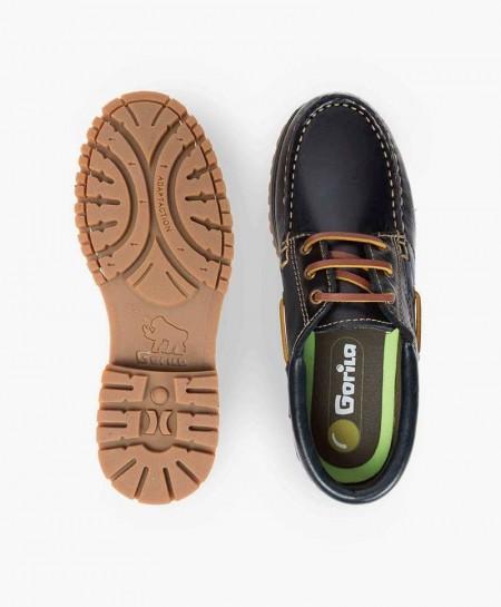 Zapatos Náuticos GORILA Azul Piel Chica Chico 0 en Kolekole