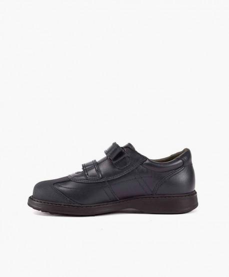 Zapatos Colegiales GORILA Azul Doble Velcro para Niño 2 en Kolekole