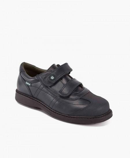 Zapatos Colegiales GORILA Azul Doble Velcro para Niño 0 en Kolekole
