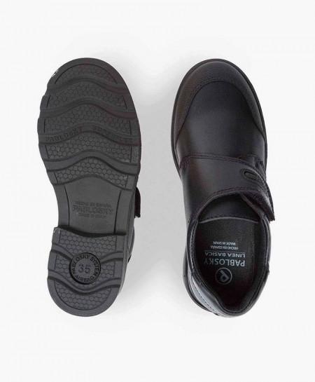 Zapatos Colegiales PABLOSKY Negros de Piel para Niño
