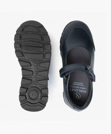 Zapatos Colegiales Merceditas PABLOSKY Azul de Piel para Niña