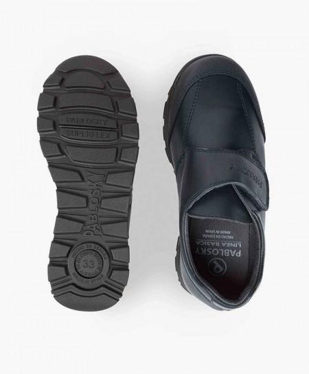 Zapatos Colegiales PABLOSKY Azul de Piel para Niño