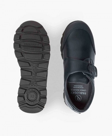 Zapatos Colegiales PABLOSKY Azul de Piel para Niña 3 en Kolekole