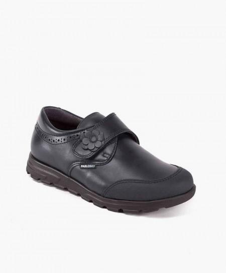 Zapatos Colegiales PABLOSKY Azul de Piel para Niña