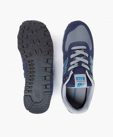 Zapatillas NEW BALANCE Azul Marino y Gris Chica y Chico
