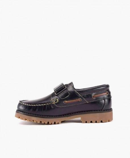 Zapatos Náuticos GORILA Azul Piel Velcro Niña Niño 3 en Kolekole