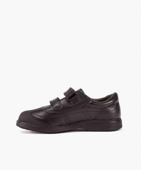 Zapatos Colegiales GORILA Negros Piel con Doble Velcro Niño 3 en Kolekole