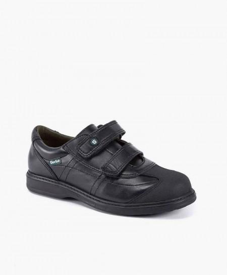 Gorila Zapato Colegial Negro Piel Doble Velcro Niño en Kolekole