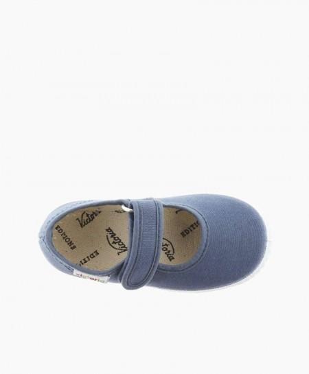 Zapatillas Merceditas VICTORIA Jeans Velcro Niña