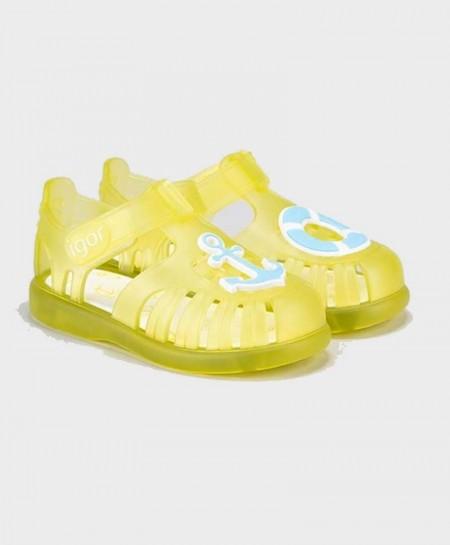 Cangrejeras IGOR Amarillas Náuticas Velcro Niña y Niño